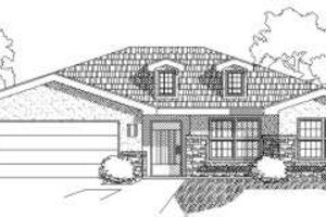 Adobe / Southwestern Exterior - Front Elevation Plan #24-217
