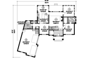 Traditional Style House Plan - 5 Beds 3 Baths 4897 Sq/Ft Plan #25-4472 Floor Plan - Main Floor Plan