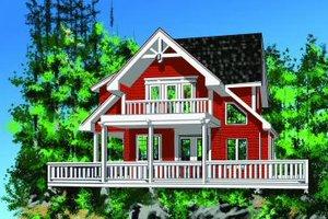 Cottage Exterior - Front Elevation Plan #118-111