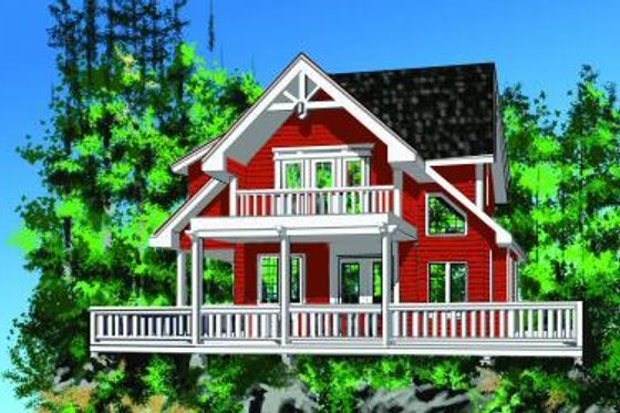 Cottage Exterior - Front Elevation Plan #118-111