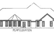 Southern Style House Plan - 4 Beds 3 Baths 2622 Sq/Ft Plan #63-106 Exterior - Rear Elevation