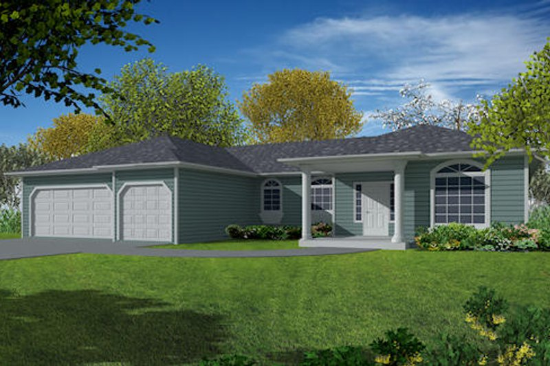 Dream House Plan - Traditional Exterior - Front Elevation Plan #437-15