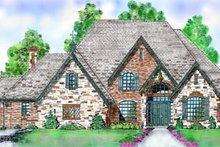 Architectural House Design - European Exterior - Front Elevation Plan #52-125