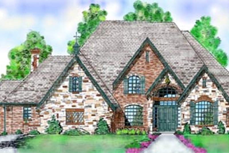 Dream House Plan - European Exterior - Front Elevation Plan #52-125