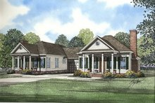 House Design - Southern Exterior - Front Elevation Plan #17-1063