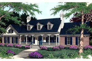 Southern Exterior - Front Elevation Plan #406-109