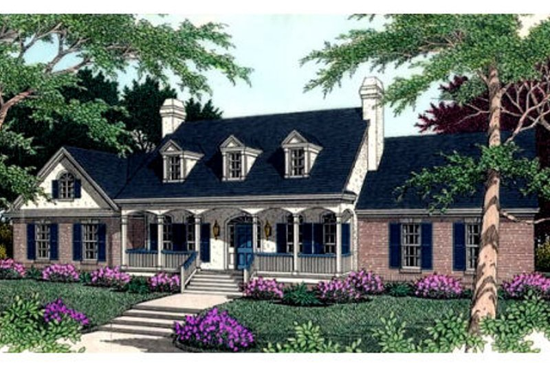 Architectural House Design - Southern Exterior - Front Elevation Plan #406-109