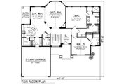 Craftsman Style House Plan - 2 Beds 2.5 Baths 1875 Sq/Ft Plan #70-1269 Floor Plan - Main Floor