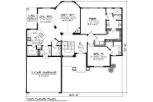 Craftsman Floor Plan - Main Floor Plan Plan #70-1269