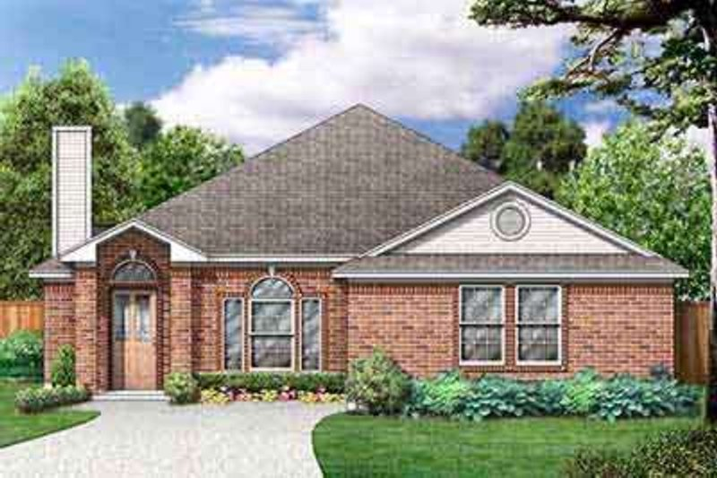 Traditional Exterior - Front Elevation Plan #84-221 - Houseplans.com