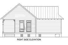 Cottage Exterior - Rear Elevation Plan #45-334
