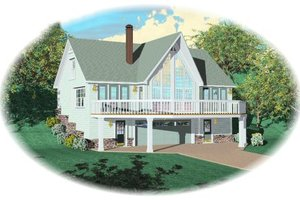 Contemporary Exterior - Front Elevation Plan #81-695