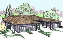 Home Plan - Ranch Exterior - Front Elevation Plan #60-572