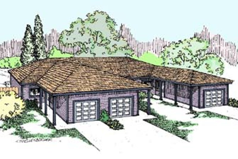 Dream House Plan - Ranch Exterior - Front Elevation Plan #60-572