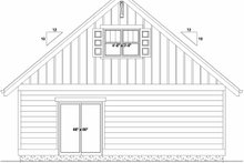 Bungalow Exterior - Rear Elevation Plan #126-208