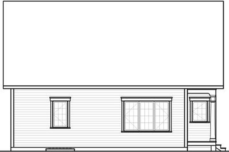Traditional Exterior - Rear Elevation Plan #23-781 - Houseplans.com