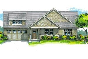 Craftsman Exterior - Front Elevation Plan #53-566