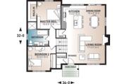 House Plan - 2 Beds 1 Baths 1595 Sq/Ft Plan #23-138 Floor Plan - Main Floor