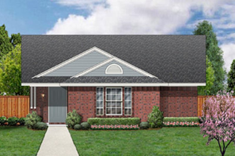 Ranch Exterior - Front Elevation Plan #84-452 - Houseplans.com