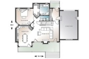 Cottage Style House Plan - 3 Beds 2.5 Baths 1909 Sq/Ft Plan #23-417 Floor Plan - Main Floor