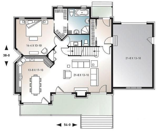 Home Plan - Cottage Floor Plan - Main Floor Plan #23-417
