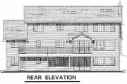 Traditional Style House Plan - 4 Beds 3 Baths 2787 Sq/Ft Plan #18-225 Exterior - Rear Elevation