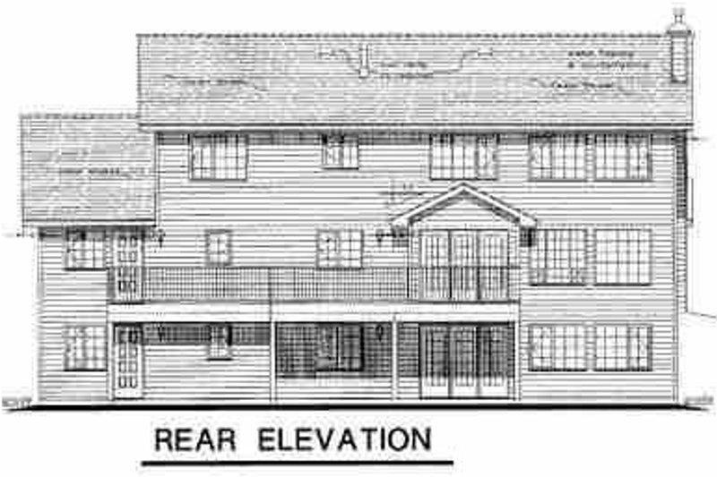 Traditional Exterior - Rear Elevation Plan #18-225 - Houseplans.com
