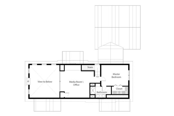 Cabin Floor Plan - Upper Floor Plan Plan #497-47