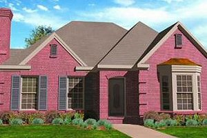 House Plan Design - European Exterior - Front Elevation Plan #410-330