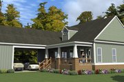 Southern Style House Plan - 3 Beds 2.5 Baths 2522 Sq/Ft Plan #63-391 Exterior - Rear Elevation