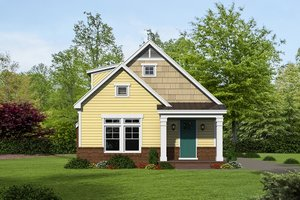 Cottage Exterior - Front Elevation Plan #932-24