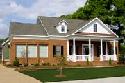 Classical Style House Plan - 4 Beds 3 Baths 3353 Sq/Ft Plan #137-124 Exterior - Front Elevation