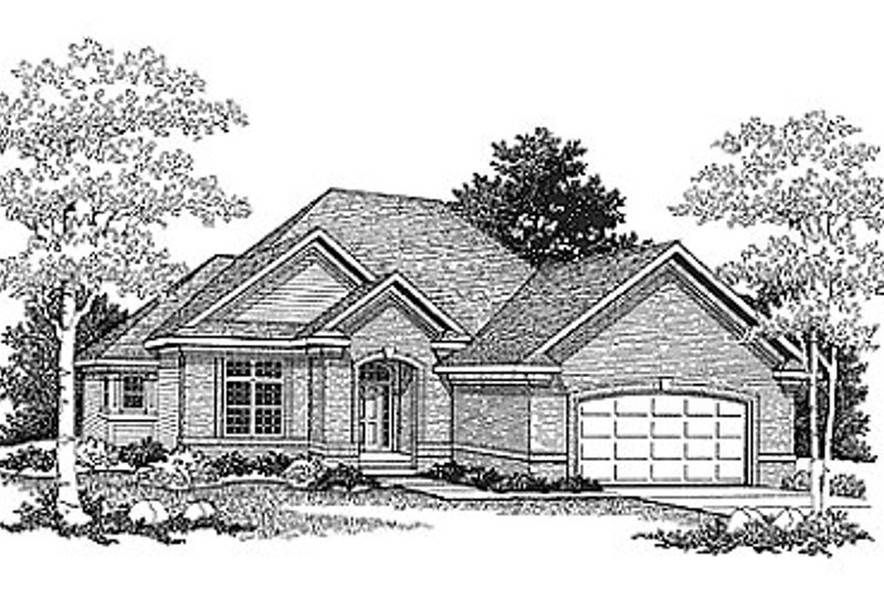 Traditional Exterior - Front Elevation Plan #70-240 - Houseplans.com