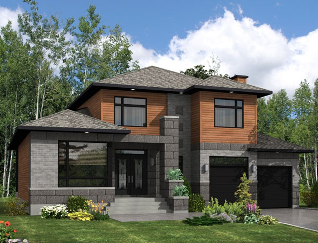 Modern Style House Plan - 3 Beds 2.5 Baths 2410 Sq/Ft Plan ...
