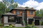 Modern Style House Plan - 3 Beds 2.5 Baths 2410 Sq/Ft Plan #138-357 Exterior - Front Elevation