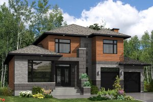 2400 square foot 3 bedroom 2 1/2 bath modern house plan