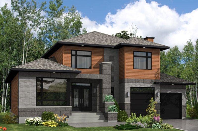 modern style house plan 3 beds 2 5 baths 2410 sq ft plan 138 357 rh houseplans com house plans for modern ranch style modern house plans indian style