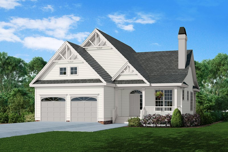 Craftsman Exterior - Front Elevation Plan #929-318
