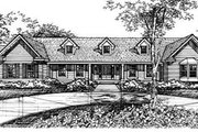Ranch Style House Plan - 3 Beds 2.5 Baths 3044 Sq/Ft Plan #50-143 Exterior - Other Elevation