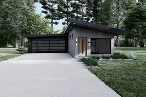 House Blueprint - Contemporary Exterior - Front Elevation Plan #923-194
