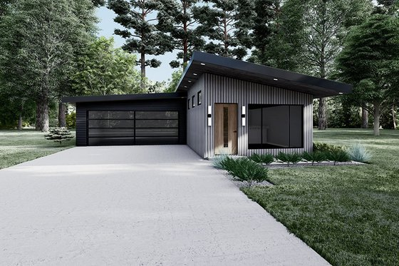 House Design - Contemporary Exterior - Front Elevation Plan #923-194