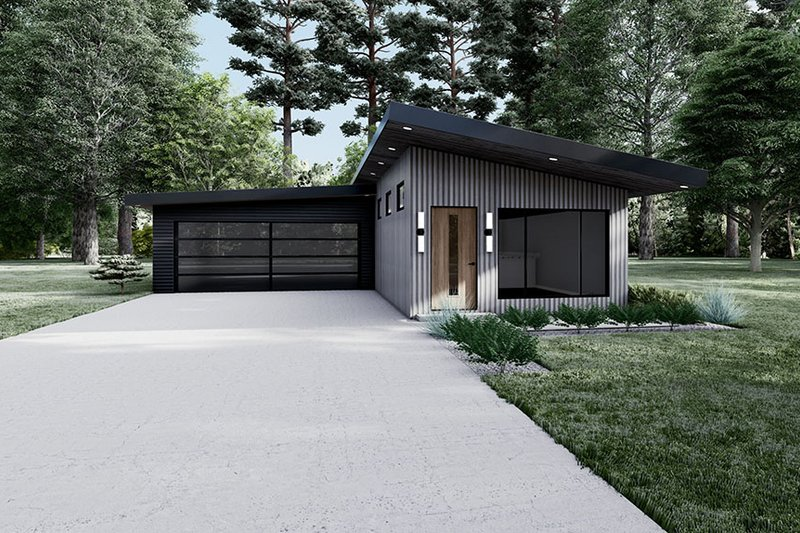Home Plan - Contemporary Exterior - Front Elevation Plan #923-194