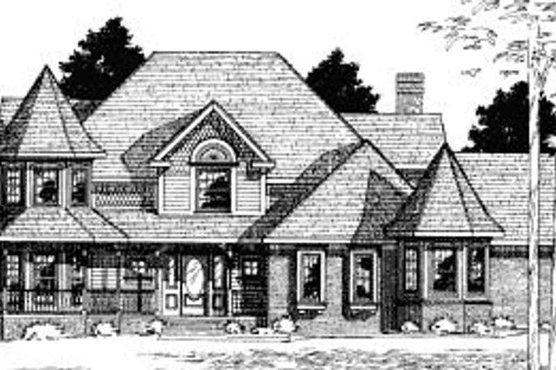 Victorian Exterior - Front Elevation Plan #20-1149