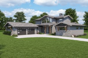 Modern Exterior - Other Elevation Plan #1070-125