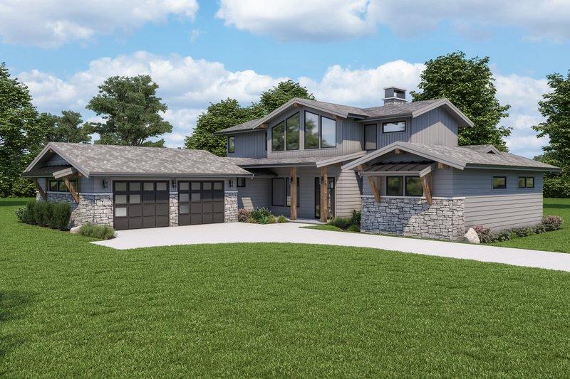 Dream House Plan - Modern Exterior - Other Elevation Plan #1070-125