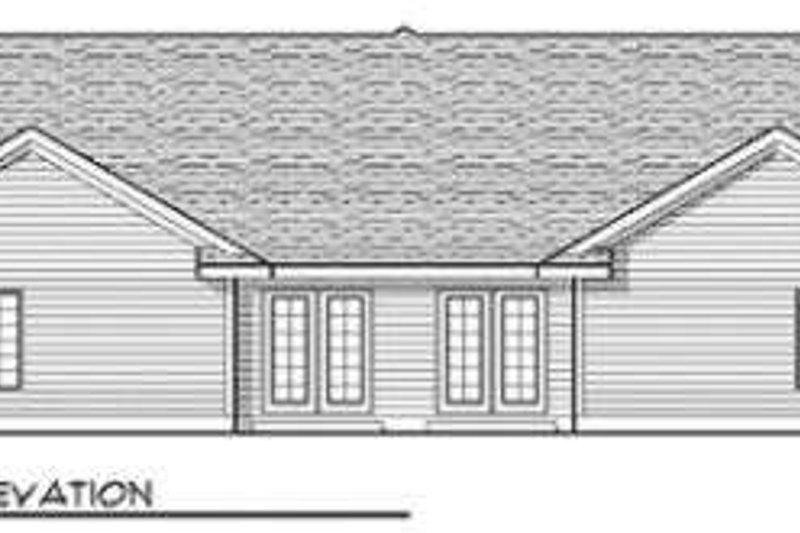 Traditional Exterior - Rear Elevation Plan #70-655 - Houseplans.com