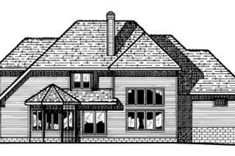 Traditional Exterior - Rear Elevation Plan #20-1102 - Houseplans.com