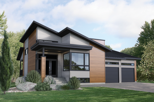 Contemporary Exterior - Front Elevation Plan #25-4896