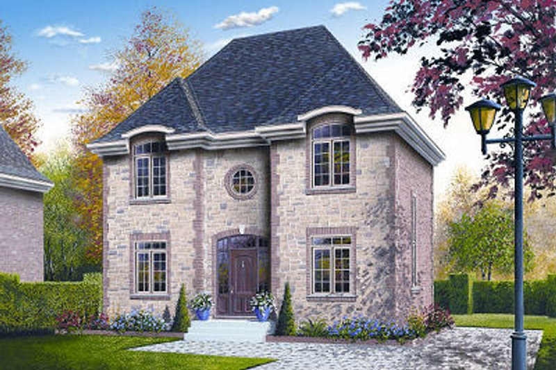 European Exterior - Front Elevation Plan #23-731