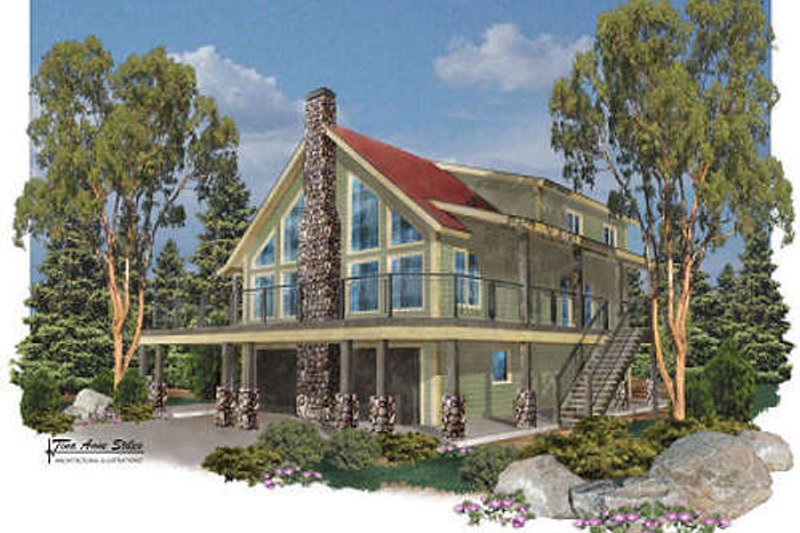 Traditional Style House Plan - 4 Beds 2 Baths 4120 Sq/Ft Plan #24-272 Exterior - Front Elevation